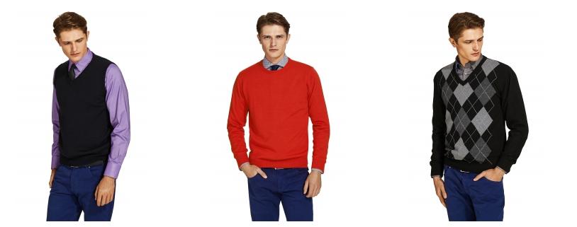 Swetry męskie różnych typów i w zróżnicowanych wariantach kolorystycznych. Źródło: http://www.wolczanka.pl/swetry-meskie-wlc.